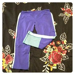Aqua and Periwinkle Girls Leggings
